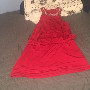 White House Black Market Red dress size M. Flouncy
